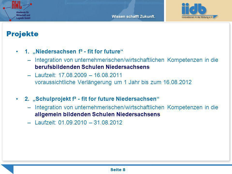 """Projekte 1. """"Niedersachsen f³ - fit for future"""