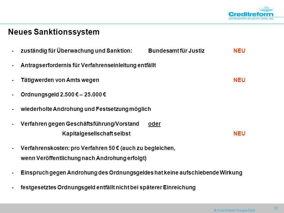 Neues Sanktionssystem