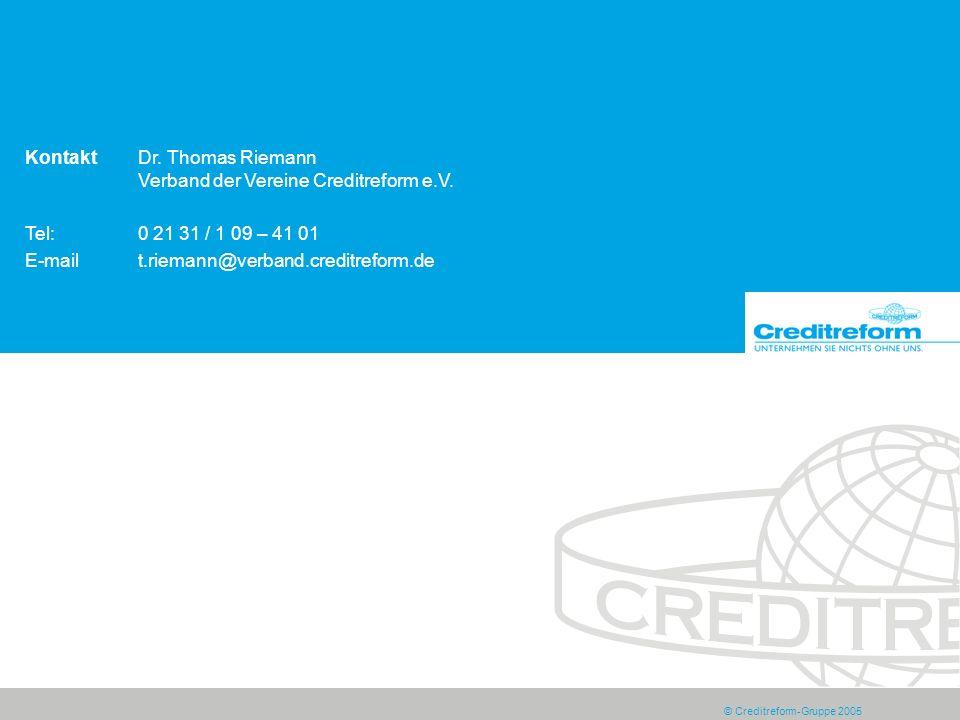 Kontakt Dr. Thomas Riemann Verband der Vereine Creditreform e.V.