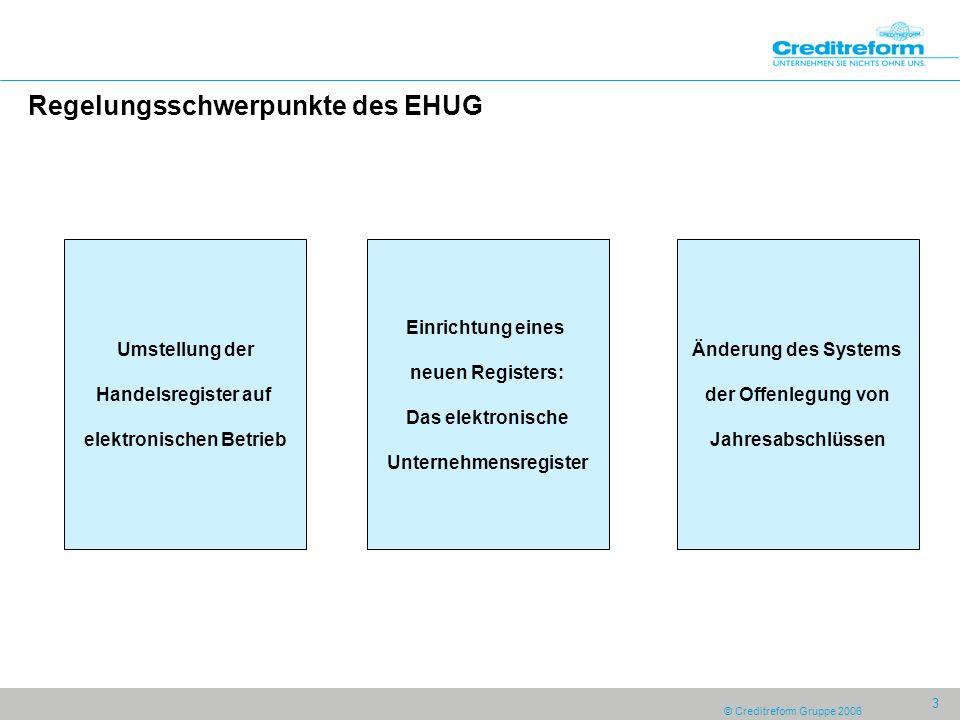 Regelungsschwerpunkte des EHUG