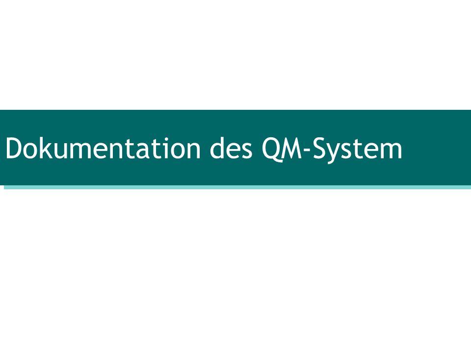 Dokumentation des QM-System