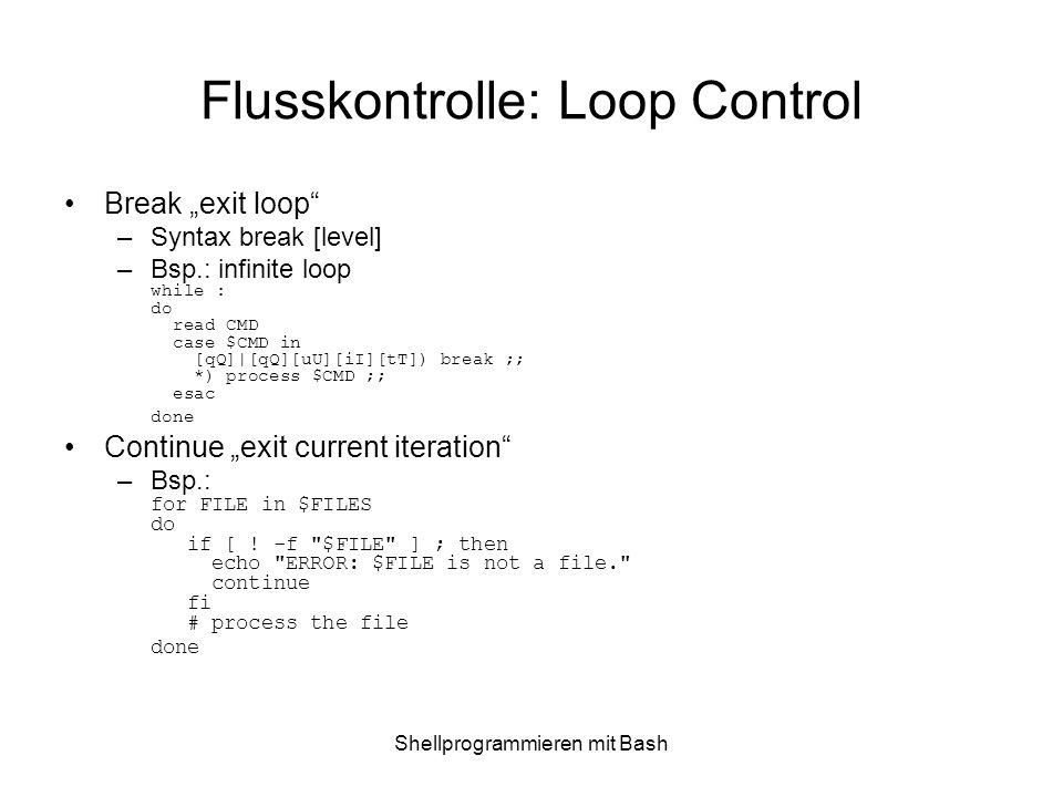 Flusskontrolle: Loop Control