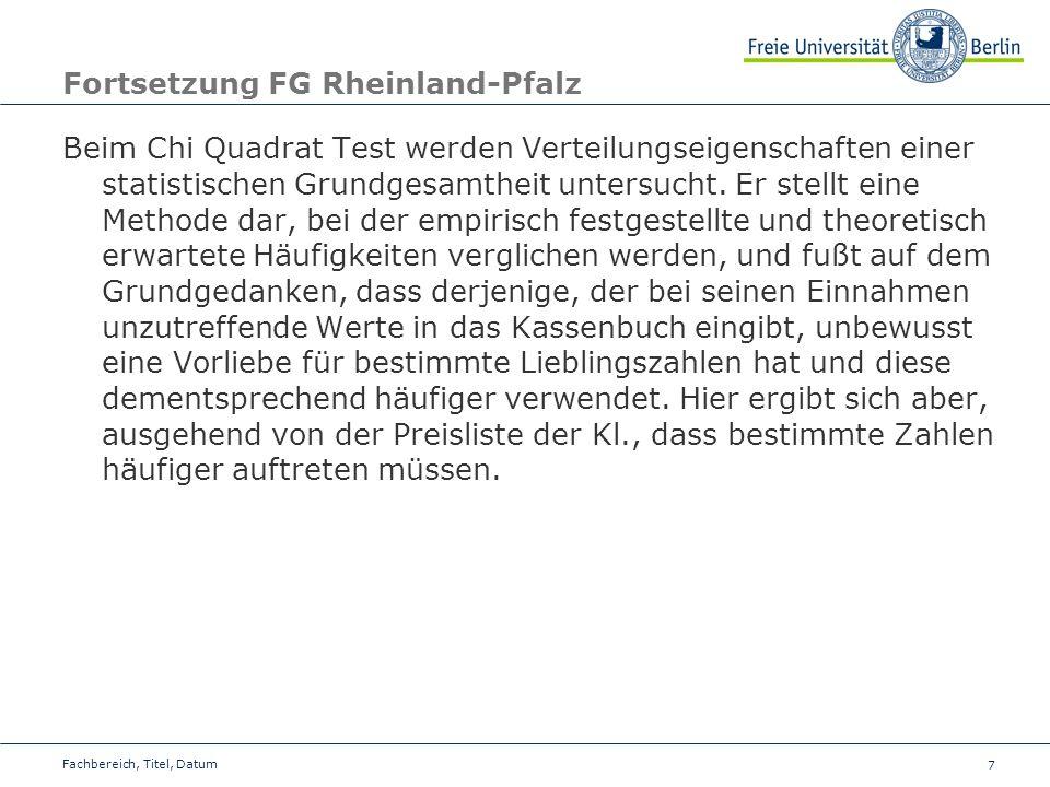 Fortsetzung FG Rheinland-Pfalz