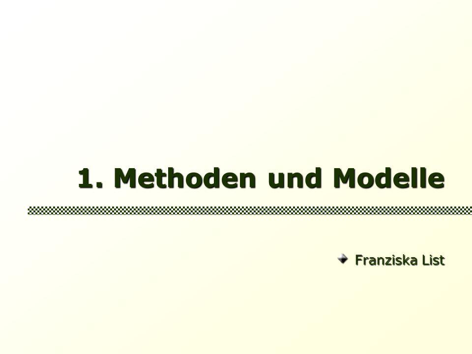 1. Methoden und Modelle Franziska List