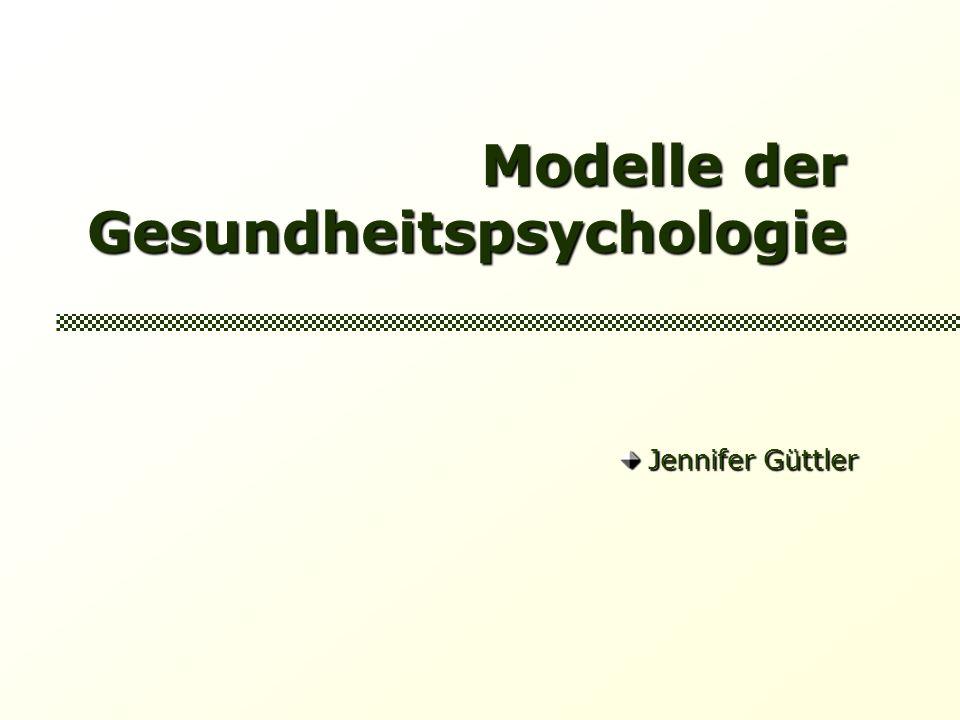 Modelle der Gesundheitspsychologie