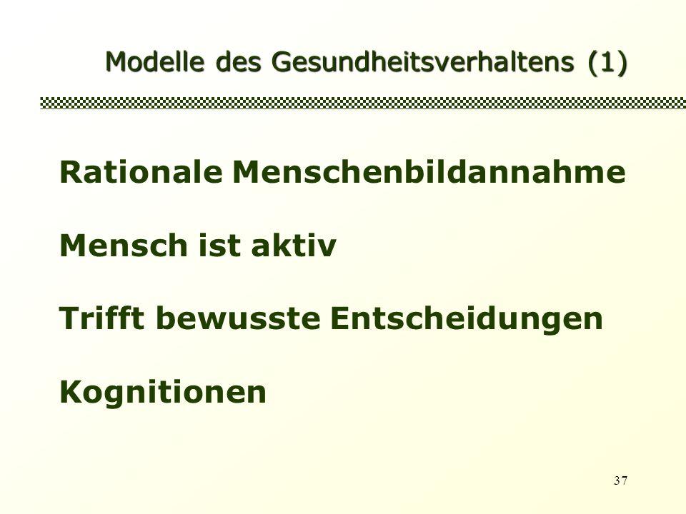 Modelle des Gesundheitsverhaltens (1)