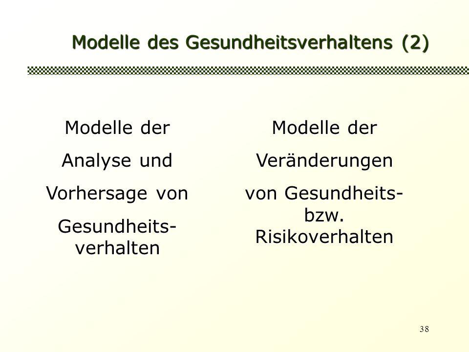 Modelle des Gesundheitsverhaltens (2)