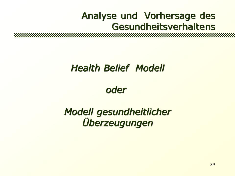 Analyse und Vorhersage des Gesundheitsverhaltens