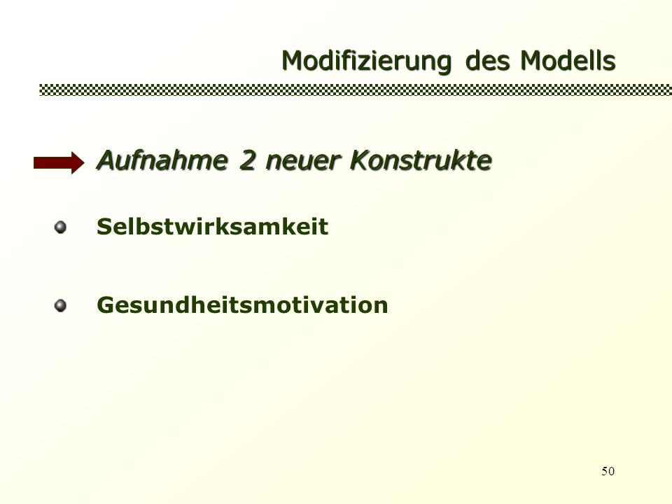 Modifizierung des Modells