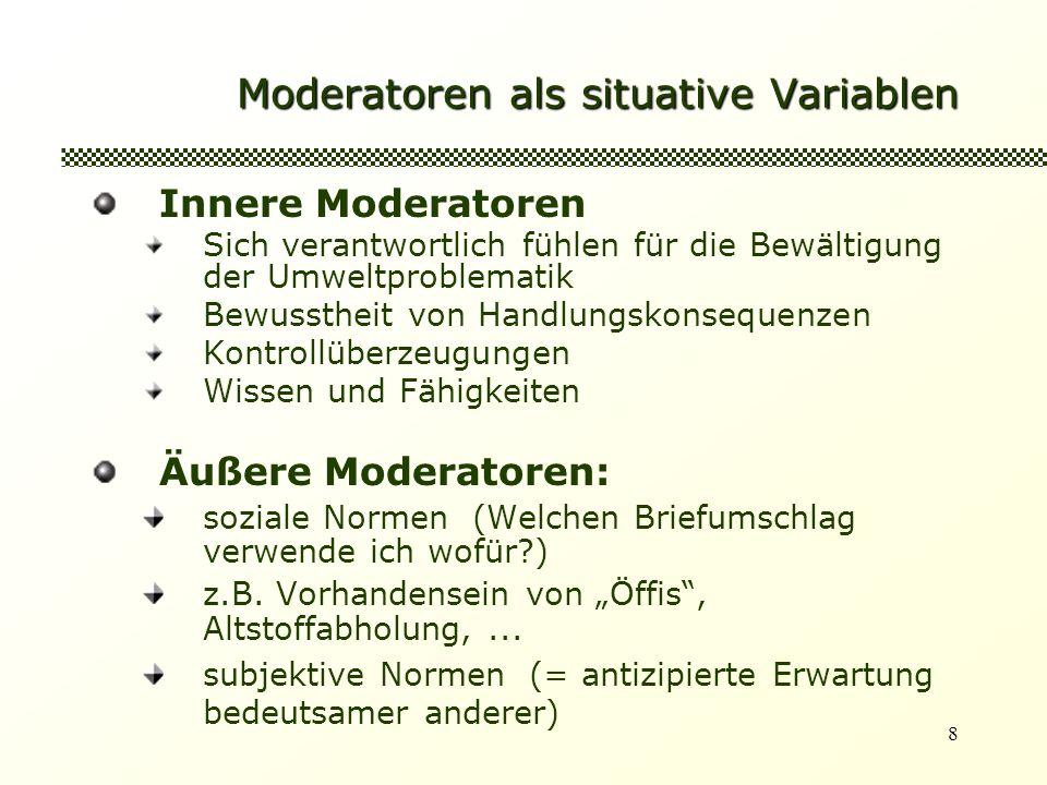 Moderatoren als situative Variablen