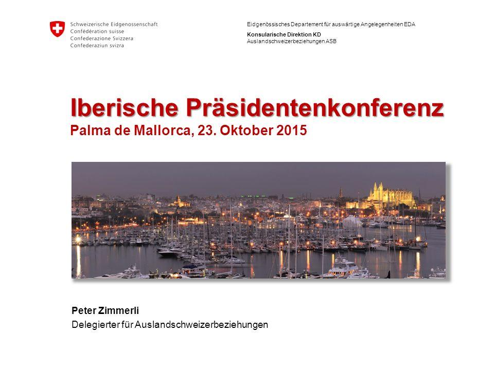 Iberische Präsidentenkonferenz Palma de Mallorca, 23. Oktober 2015