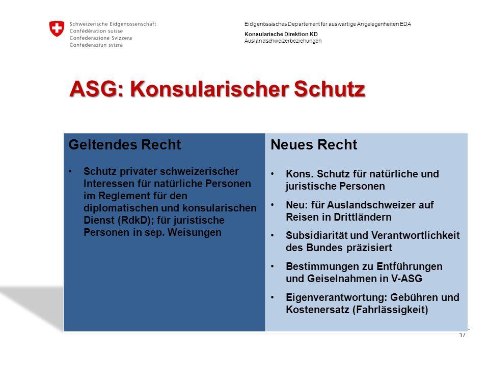 ASG: Konsularischer Schutz