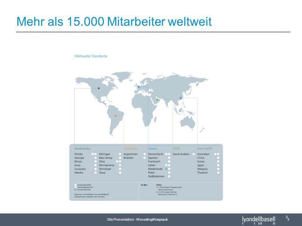 Mehr als 15.000 Mitarbeiter weltweit