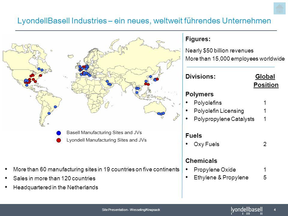 LyondellBasell Industries – ein neues, weltweit führendes Unternehmen