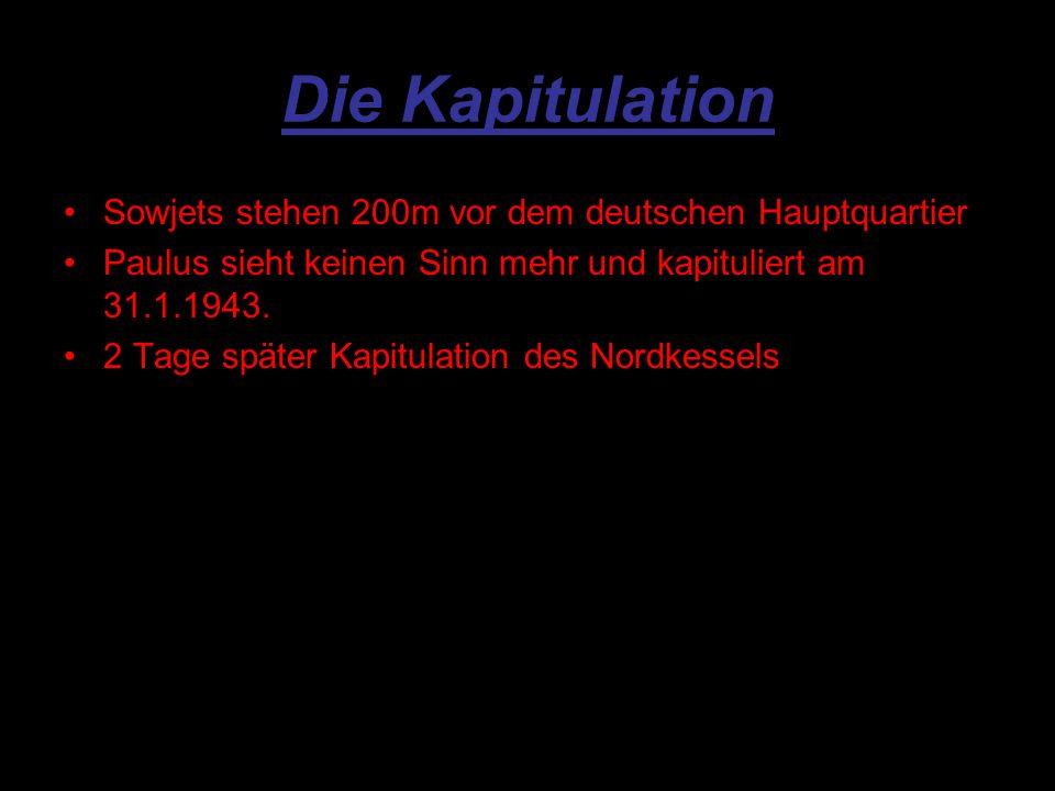 Die Kapitulation Sowjets stehen 200m vor dem deutschen Hauptquartier
