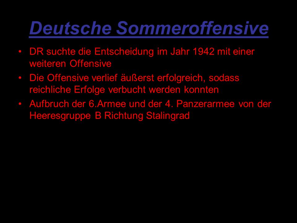 Deutsche Sommeroffensive