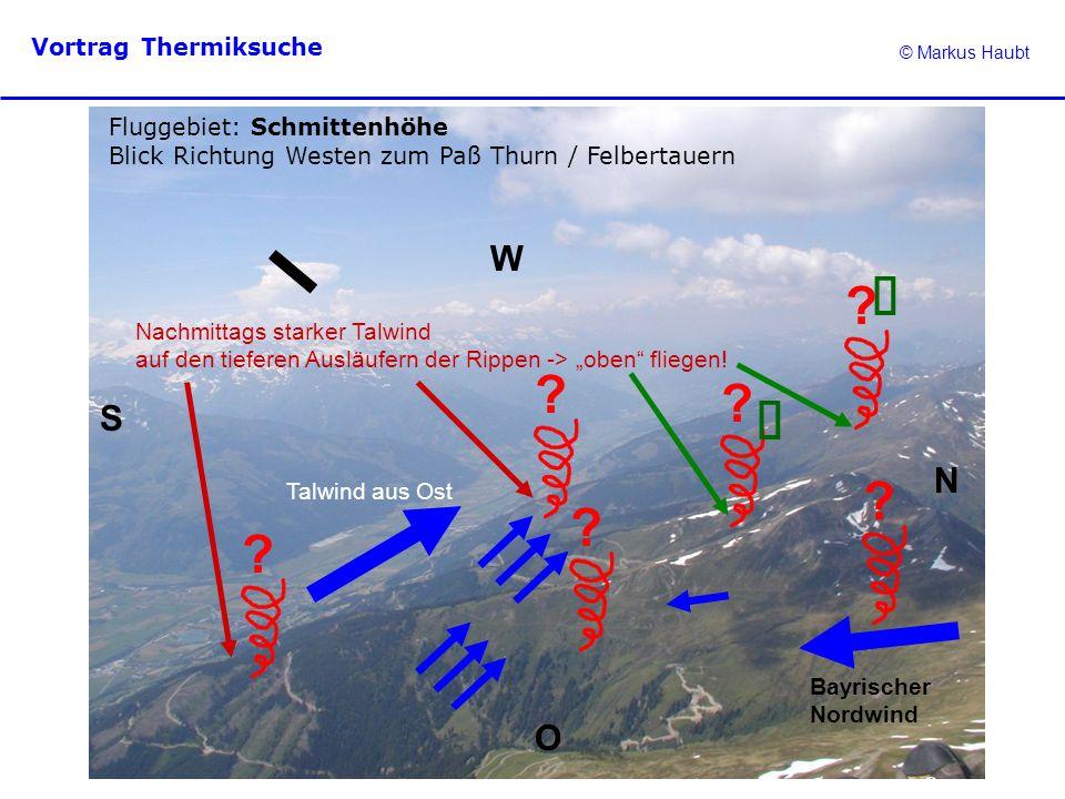 ü ü W S N O Fluggebiet: Schmittenhöhe