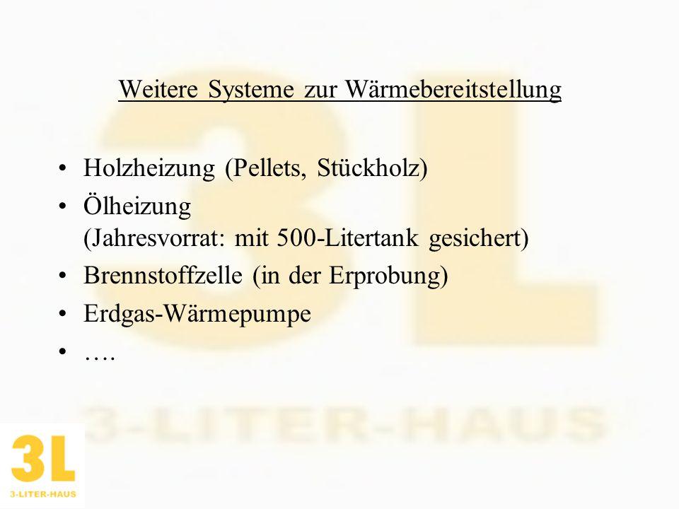 Weitere Systeme zur Wärmebereitstellung