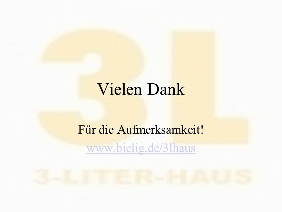 Für die Aufmerksamkeit! www.bielig.de/3lhaus