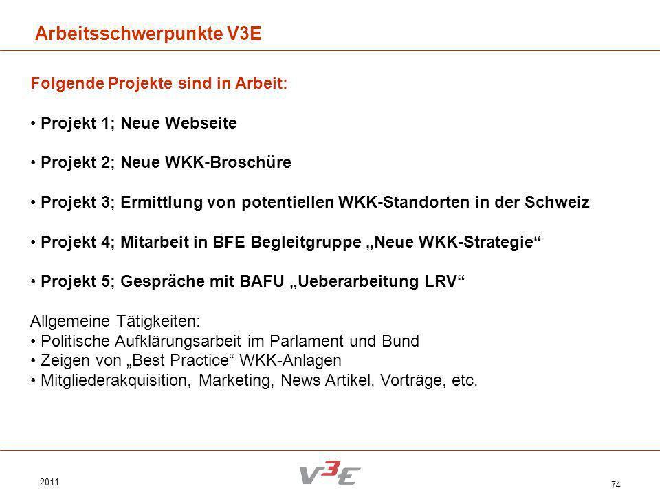 Arbeitsschwerpunkte V3E