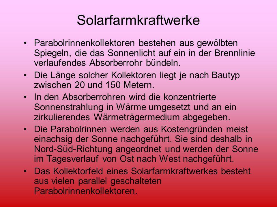 Solarfarmkraftwerke