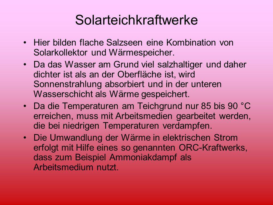 Solarteichkraftwerke