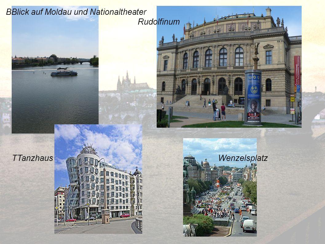 BBlick auf Moldau und Nationaltheater Rudolfinum