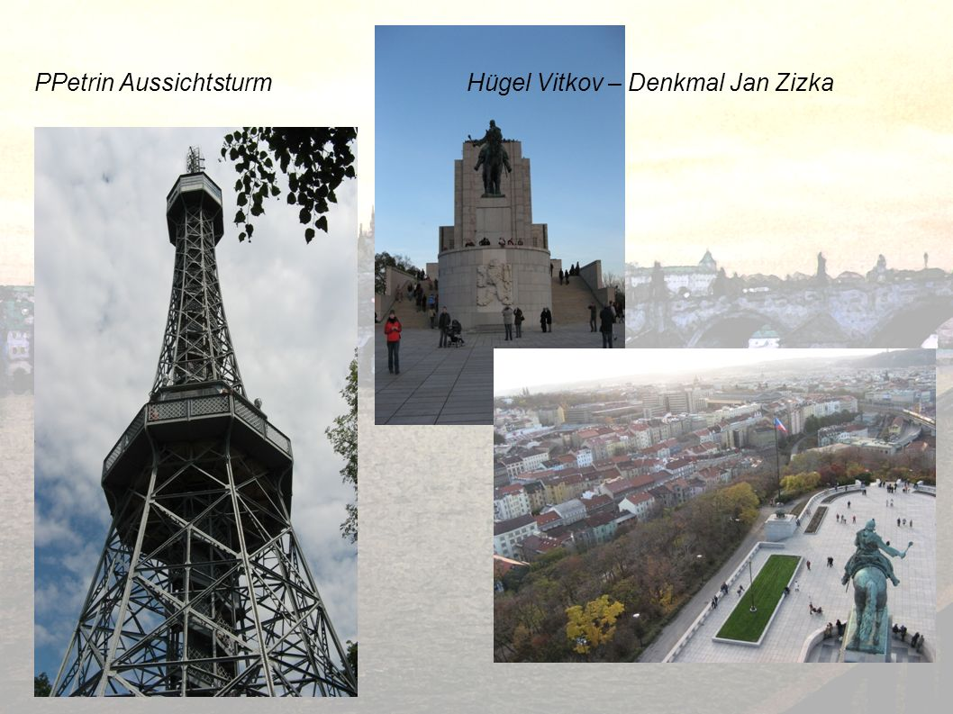 PPetrin Aussichtsturm Hügel Vitkov – Denkmal Jan Zizka