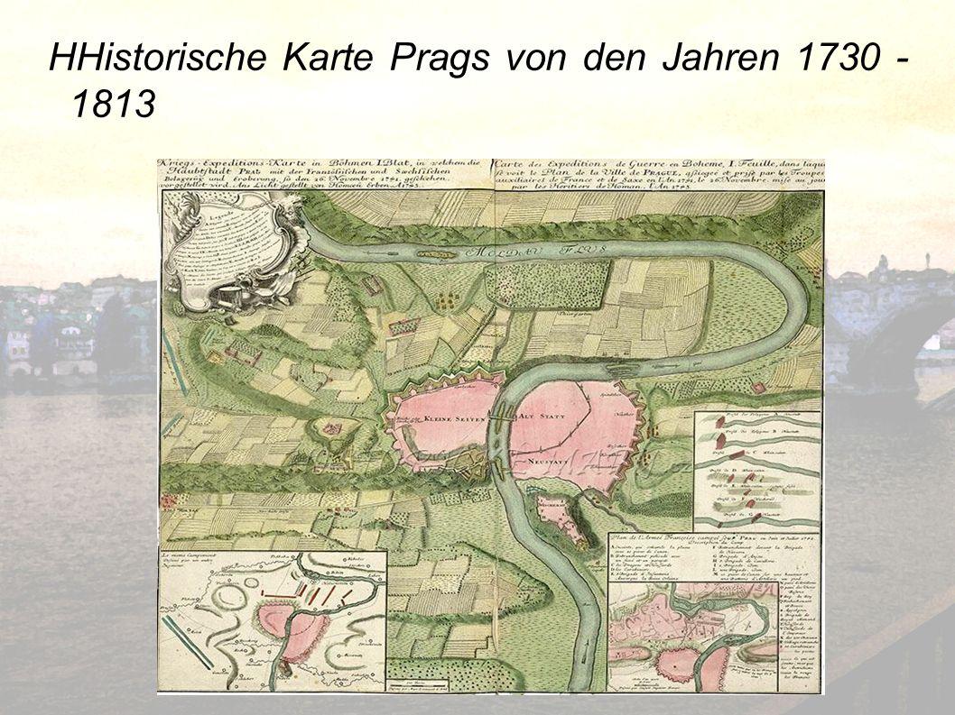 HHistorische Karte Prags von den Jahren 1730 -1813