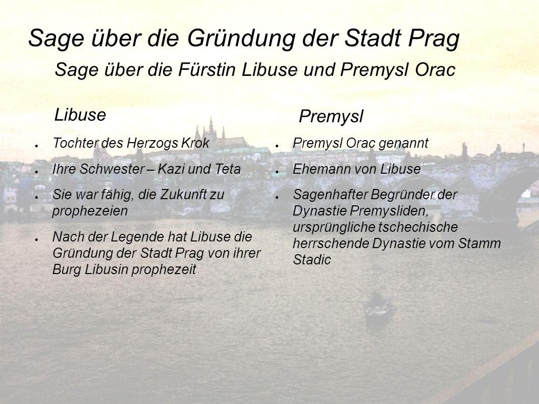 Sage über die Gründung der Stadt Prag