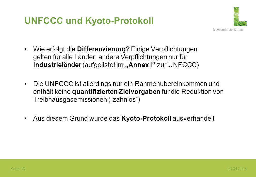 UNFCCC und Kyoto-Protokoll