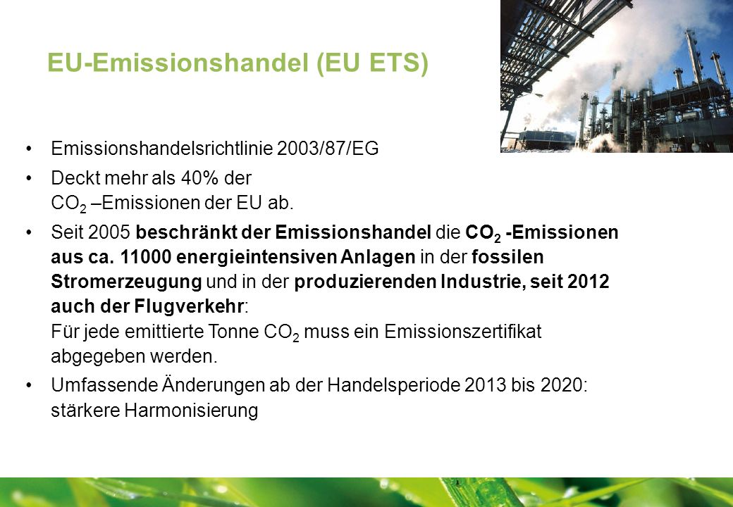 EU-Emissionshandel (EU ETS)