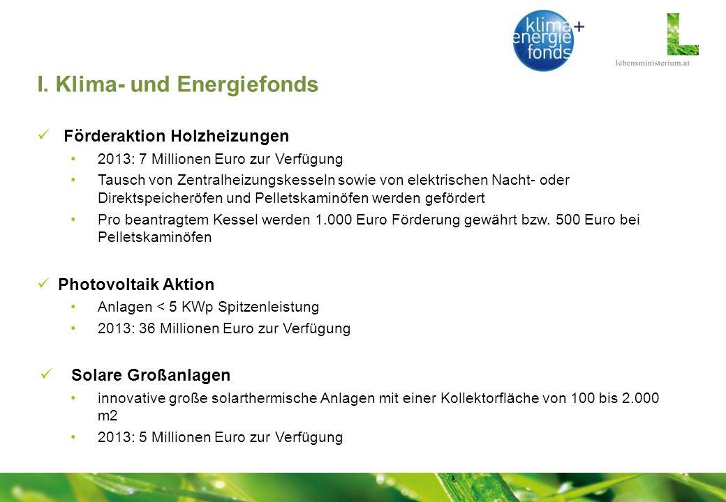 I. Klima- und Energiefonds