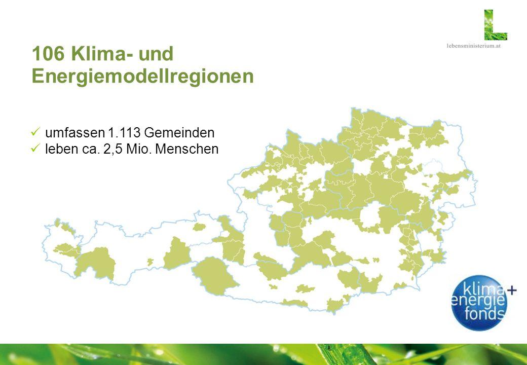 106 Klima- und Energiemodellregionen