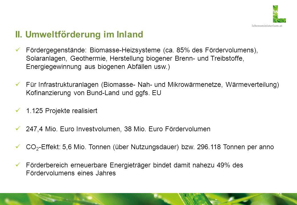II. Umweltförderung im Inland