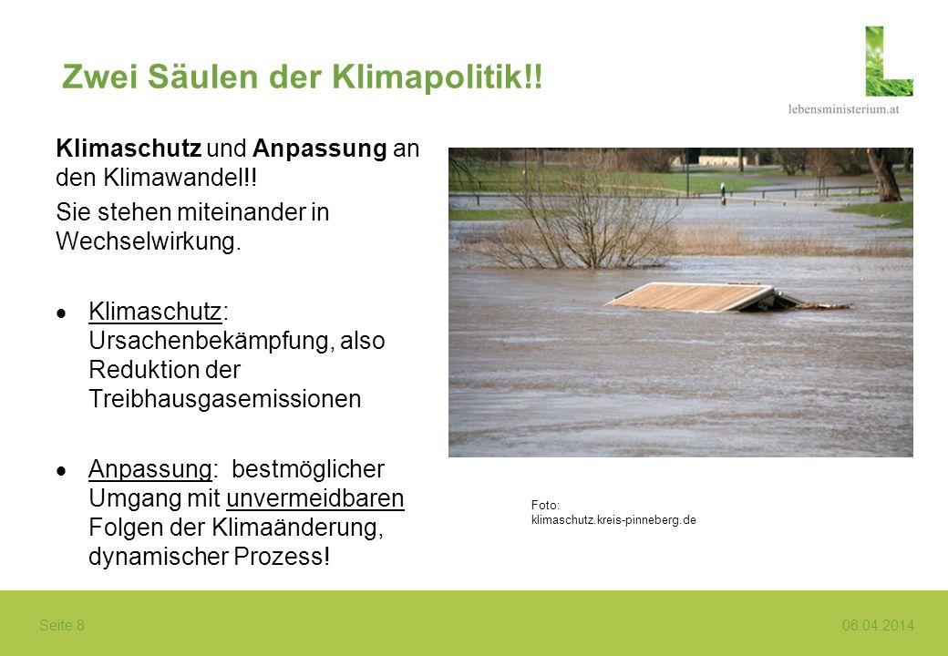 Zwei Säulen der Klimapolitik!!