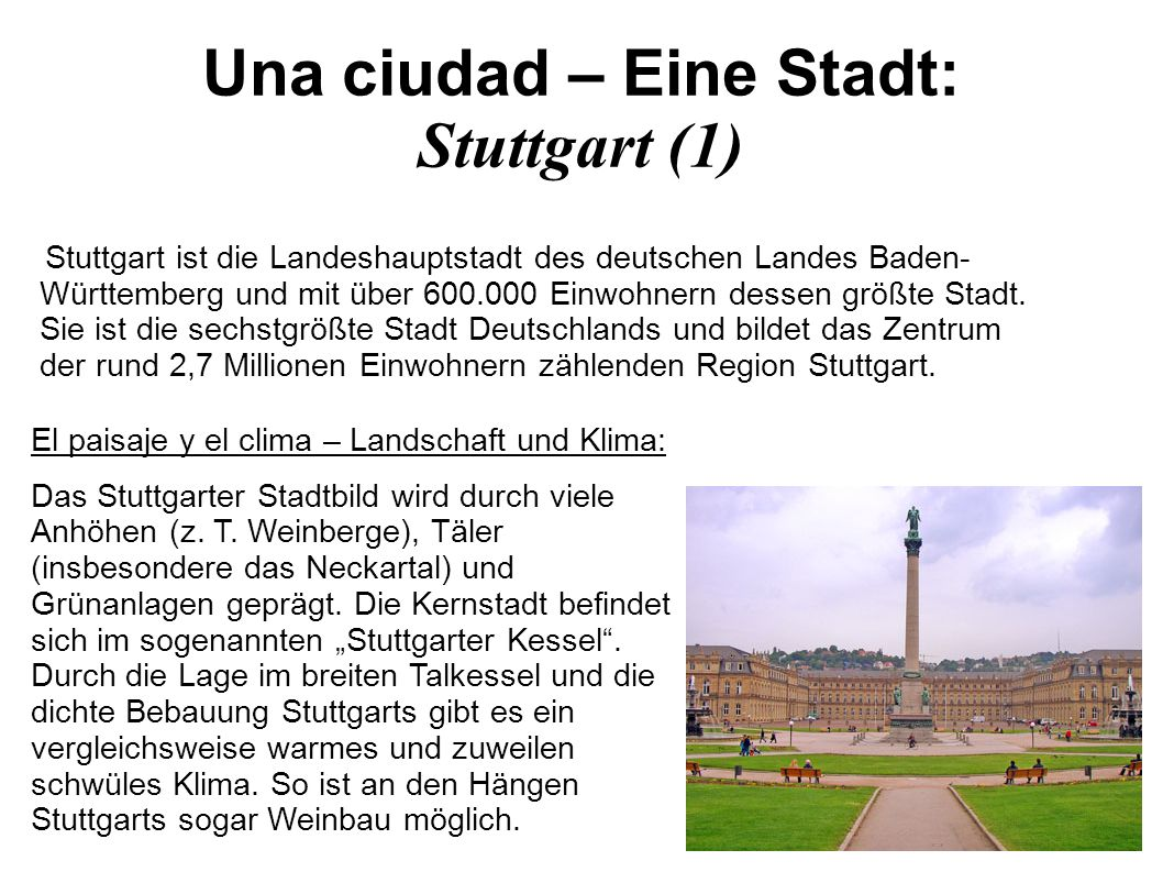 Una ciudad – Eine Stadt: Stuttgart (1)