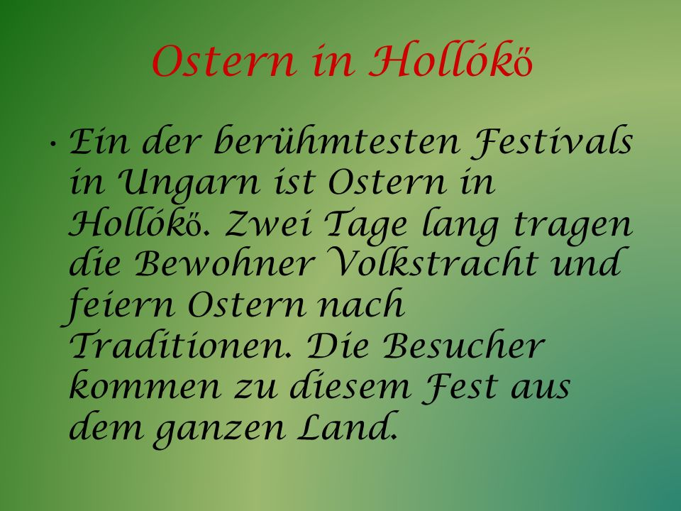 Ostern in Hollókő