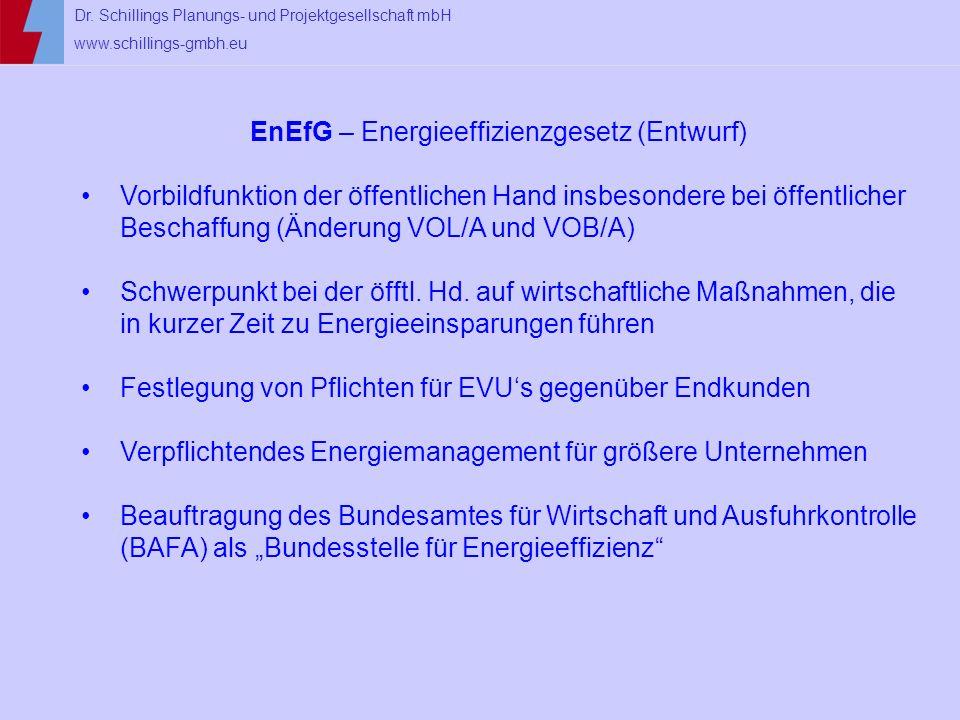 EnEfG – Energieeffizienzgesetz (Entwurf)