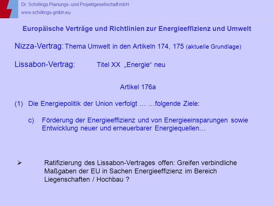 Europäische Verträge und Richtlinien zur Energieeffizienz und Umwelt
