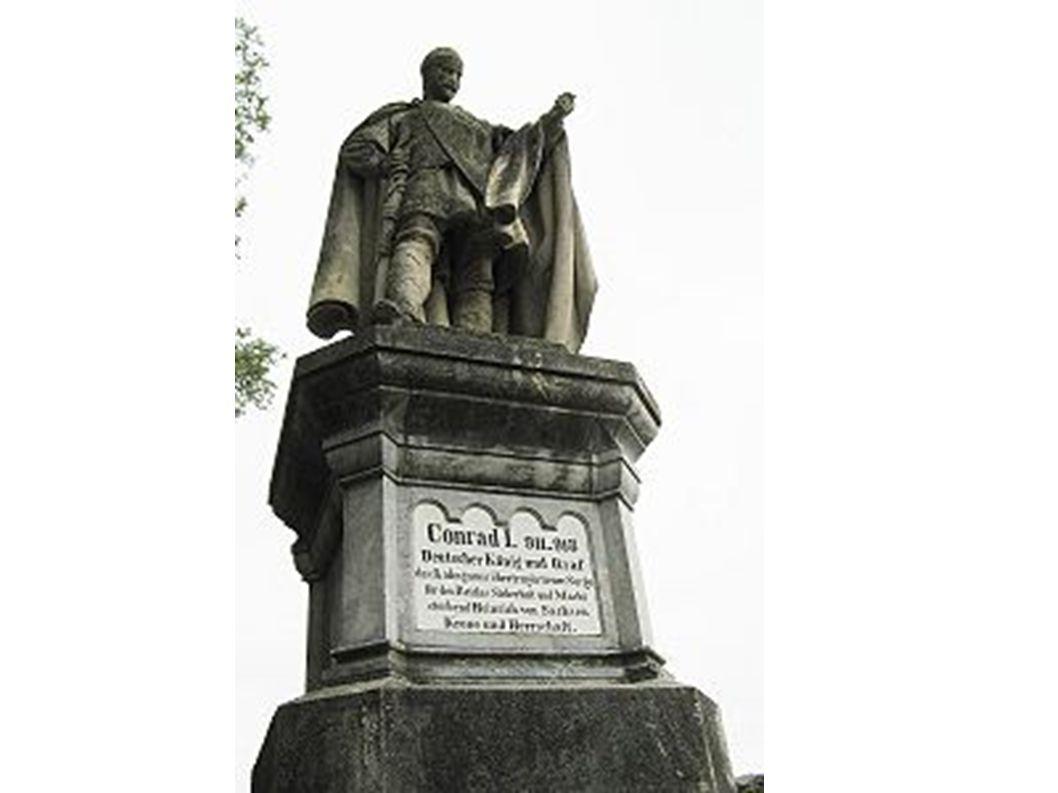Denkmal König Konrads. Mit dem Text: Conrad I. 911-918