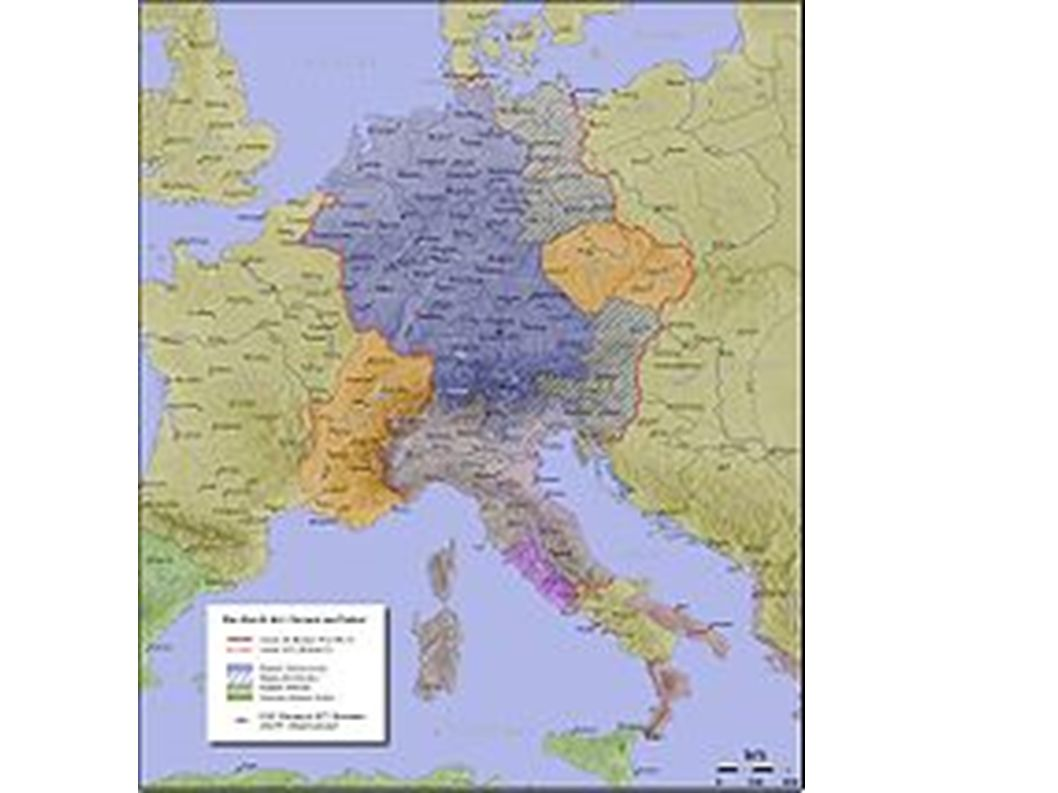 Reichsgebiet kurz vor Ottos Tod, 972