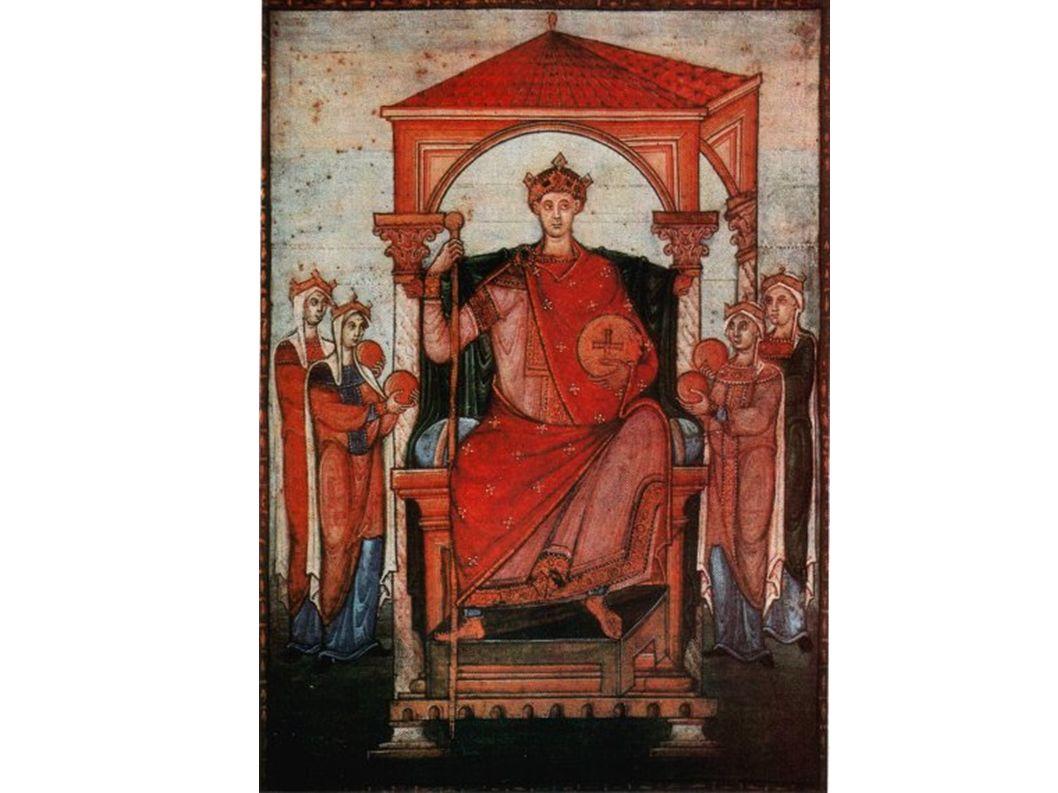 Kaiser Otto II. oder III. , Einzelblatt aus einem Registrum Gregorii(