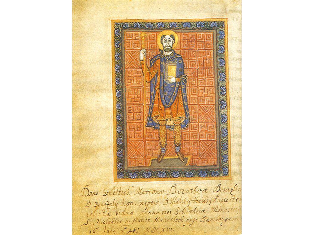 Heinrichs Vater, Heinrich der Zänker im fränkischen Gewand