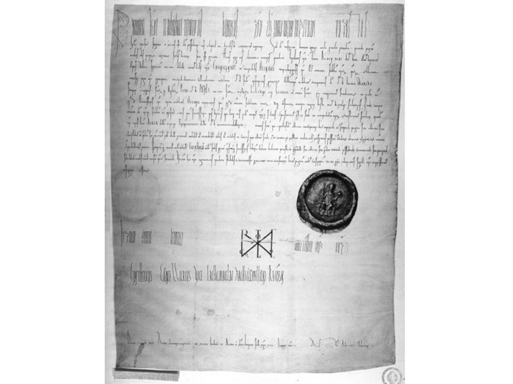 Urkunde über Schenkung des Ortes Berga ans Bistum Bamberg, vom 10