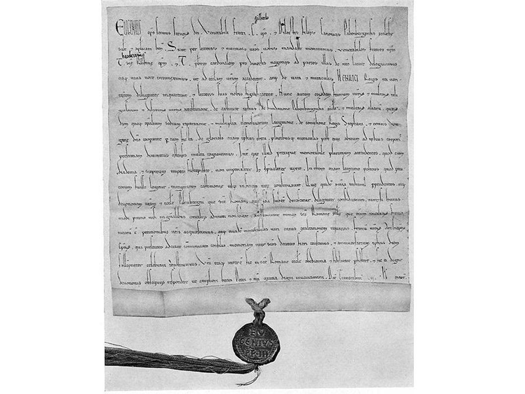 Heiligsprechungsurkunde Eugens II. für Heinrich II.