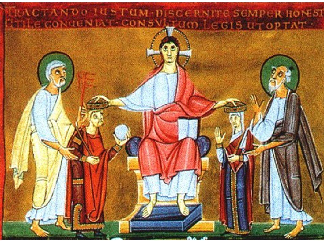 Christus krönt Heinrich II. und Kunigunde