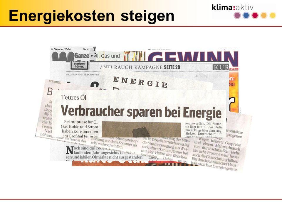 Energiekosten steigen