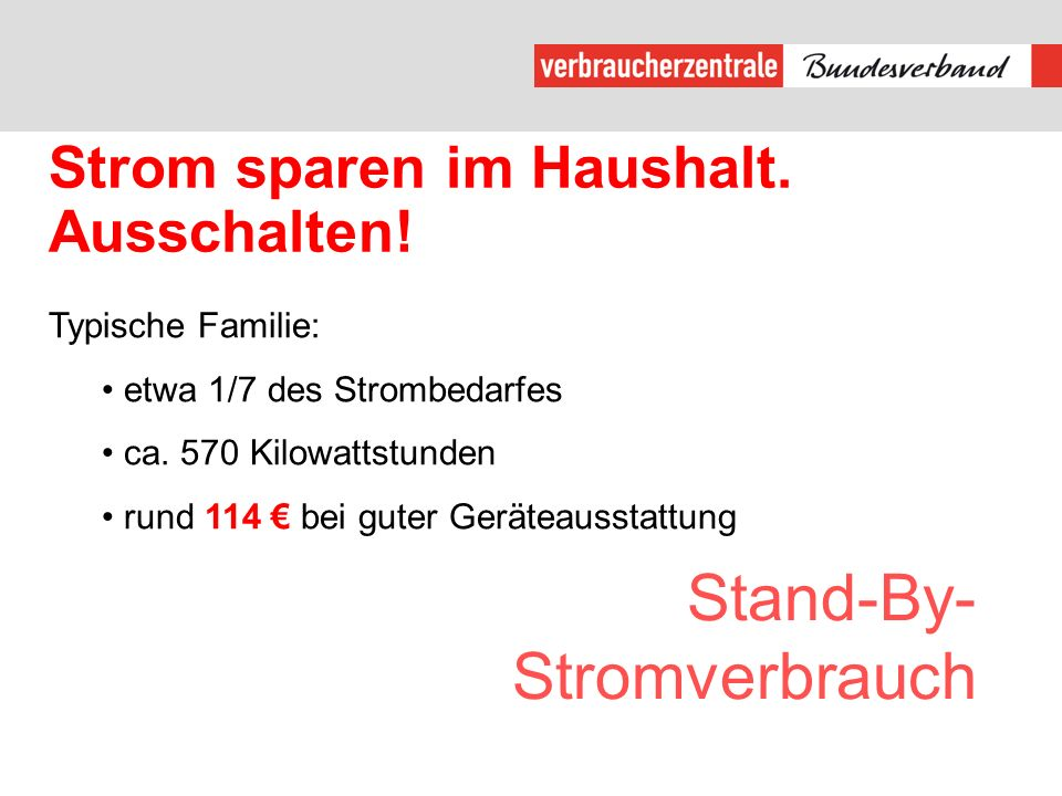 Stand-By-Stromverbrauch