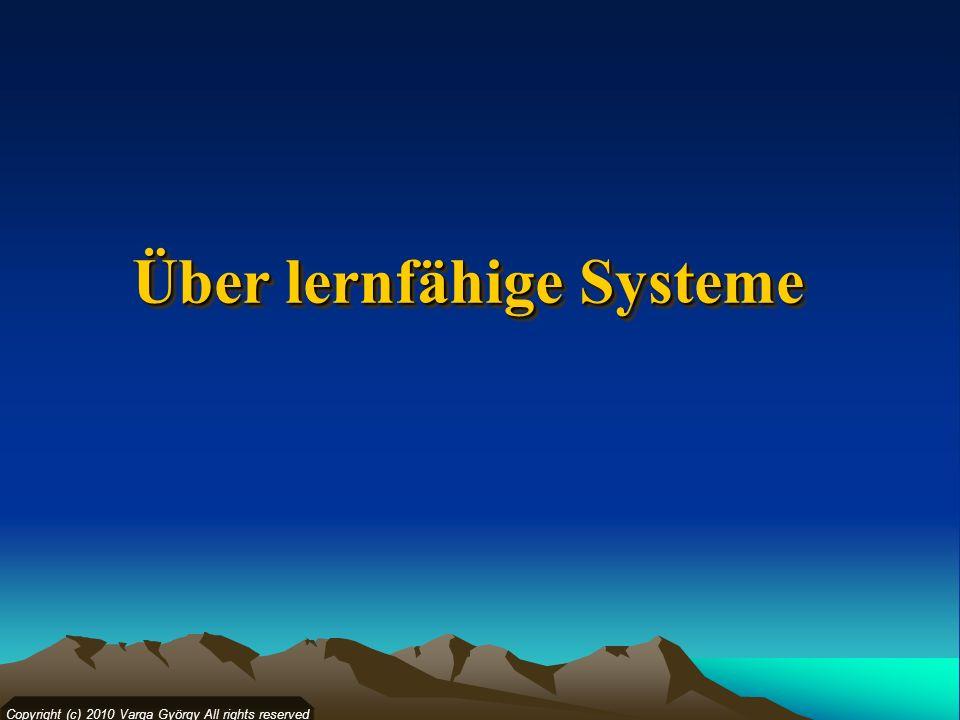Über lernfähige Systeme
